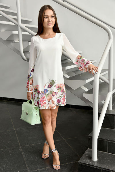 Yumi <br> Botanical Print Shift Dress