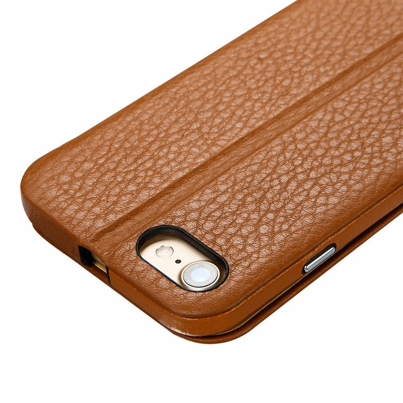 Jisoncase Protective iPhone 7 8 Case Flip Genuine Leather Magnetic Anti-knock Slim Cover - Casebuddy