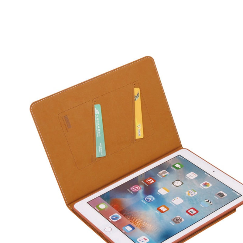 GEBEI Retro Book TPU Shell Flip Leather Case iPad Air 3 2019 Simple Business Stand Card Smart Cover - Casebuddy