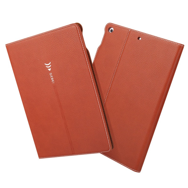 GEBEI Top Grade Retro Gold Series Genuine Leather Case iPad 4 3 2 Flip Business Stand Card Smart Cover - Casebuddy