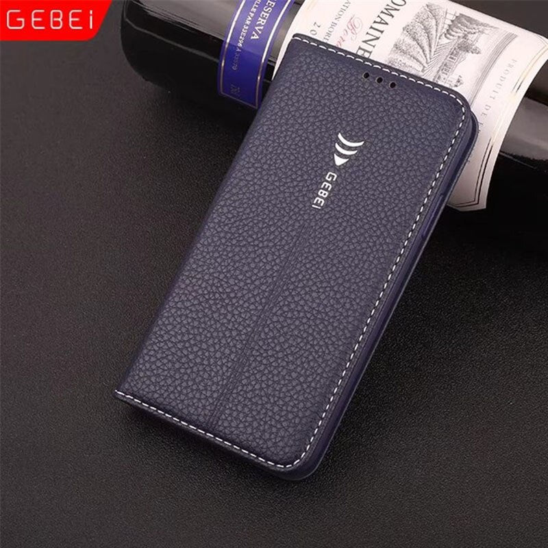 GEBEI Luxury Leather Flip Unique Magnet Design Wallet Case Cover iPhone XR XS Max X - Casebuddy