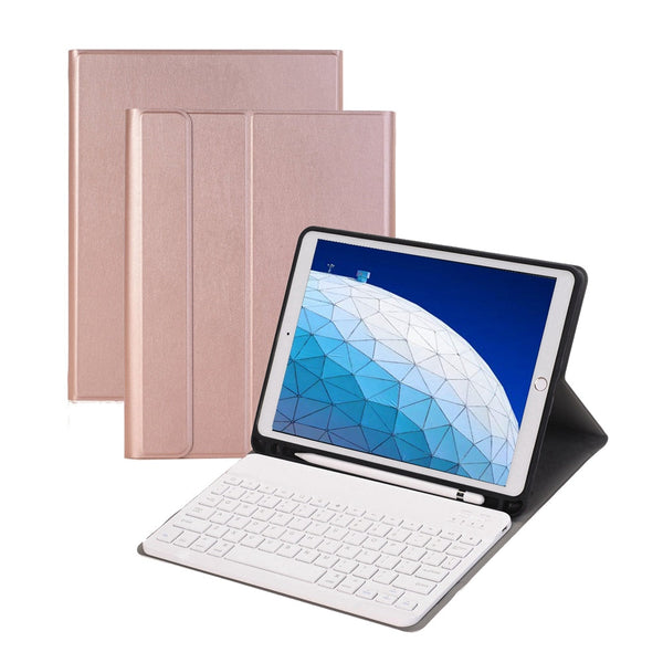 iPad Air 3 10.5inch Removable Bluetooth Keyboard Slim Stand PU Leather Case Cover Build-in Pencil Holder - Casebuddy