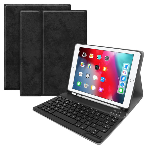 Wireless Bluetooth iPad Pro 10.5 Inch Keyboard Case With Pencil Slot Wireless Vintrage Leather