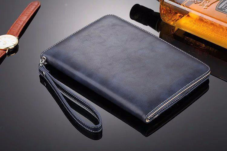 Luxury PU Business Style Stand Cover  Apple iPad Air 3 Ultra Slim Wallet Stand With Hand Strap - Casebuddy