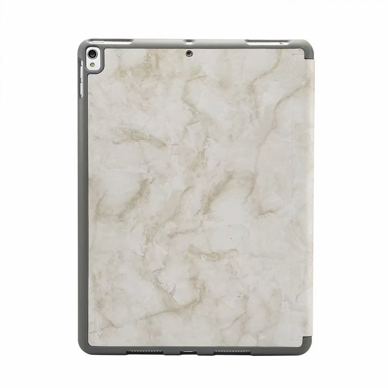 Marble Case For ipad Pro 10.5 With Pen Slot Smart Cover Auto Sleep Wake PU Leather - Casebuddy