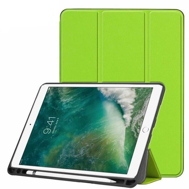 "Soft Flexible Rubberized Trifold Stand Smart Case With Pencil Holder  iPad Air (3rd Gen) 10.5"" 2019 Cover - Casebuddy"