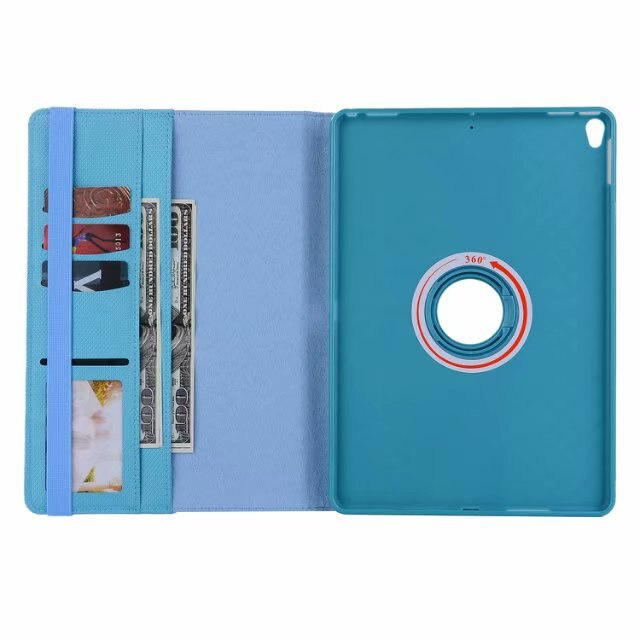 360 Rotating Leather Case iPad Air 3 10.5 2019 Wallet Stand Diamond Grid TPU Inner Protective Cover - Casebuddy
