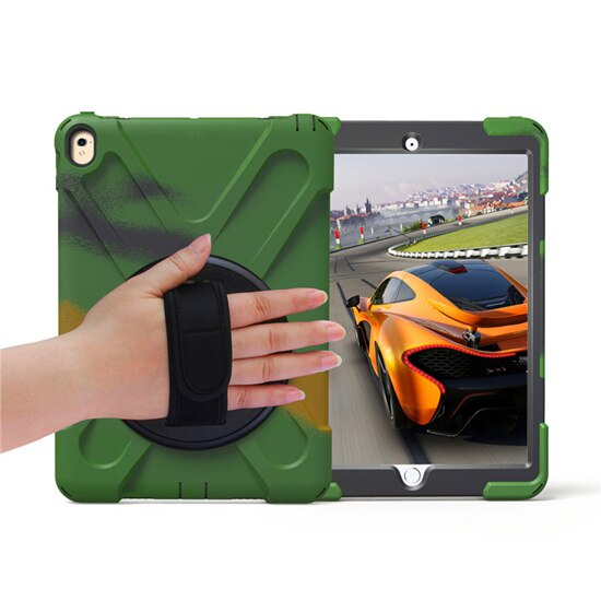 iPad Pro 11 Heavy Duty Rugged Shockproof Case 360 Rotate Kickstand Hand Neck Strap - Casebuddy