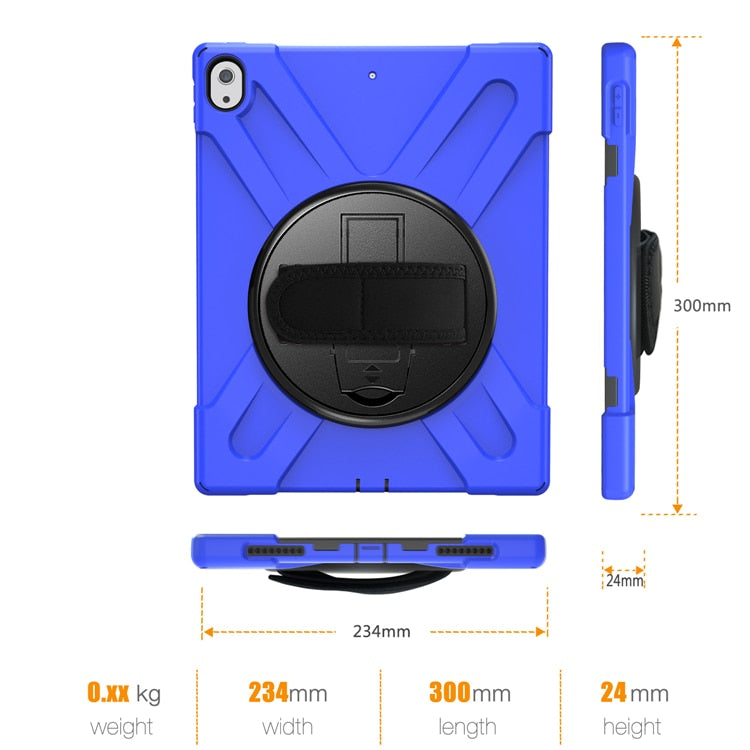 Ruged Shockproof Case iPad Pro 12.9 2018 Tablet Kids Safe Soft Silicone Armor Cover A1876 A2014 Shoulder Belt