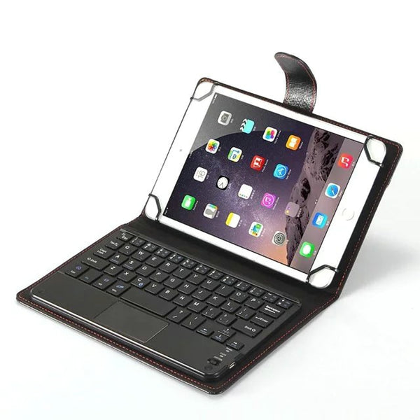 Universal 8 inch Detachable Bluetooth Keyboard With Touchpad Leather Stand Cover Case Apple iPad Mini 1 2 3 4 5 - Casebuddy