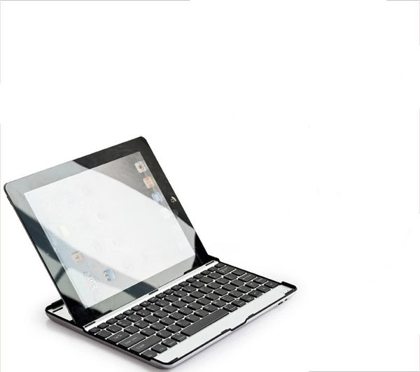 Aluminium Wireless Bluetooth 3.0 Removable Keyboard Metal Case Cover for Apple iPad 2 3 4 - Casebuddy