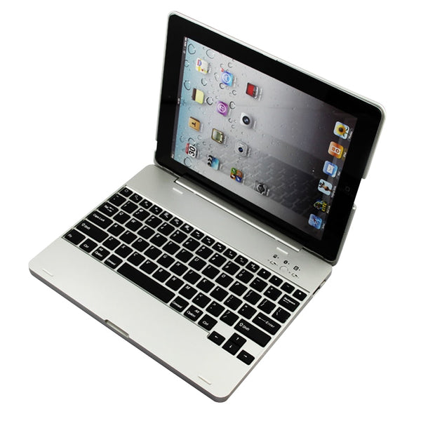 iPad2/3/4 Luxury Wireless Bluetooth 3.0 Keyboard Backup Battery Case Cover With Stand - Casebuddy