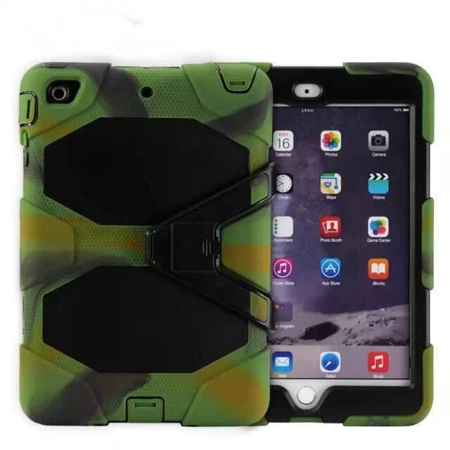 Shock Dirt Snow Sand Proof Extreme Army Military Heavy Duty Cover Case Kickstand for Apple iPad Mini 1 2 3