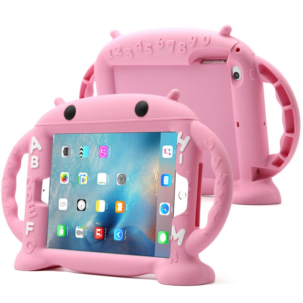 Shockproof Kid Safe Case for iPad Mini 1 2 3 Handles Stand Soft Friendly Silicone Case - Casebuddy