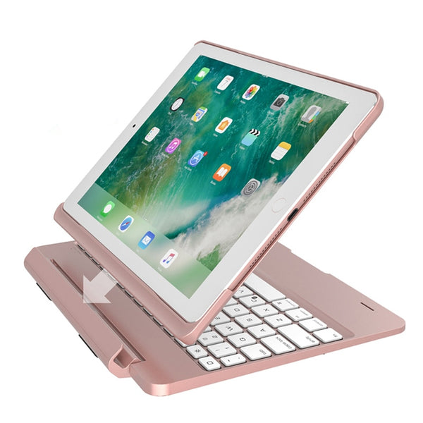 2 IN 1 Rotating Aluminum Alloy Luxury For iPad Pro 9.7 2017 2018 A1893 A1954 Air 2 Keyboard Case - Casebuddy