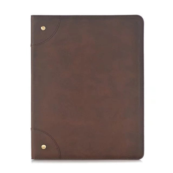 Business Retro Leather Case for iPad 2/3/4 Case Flip Stand Smart Cover Protective - Casebuddy
