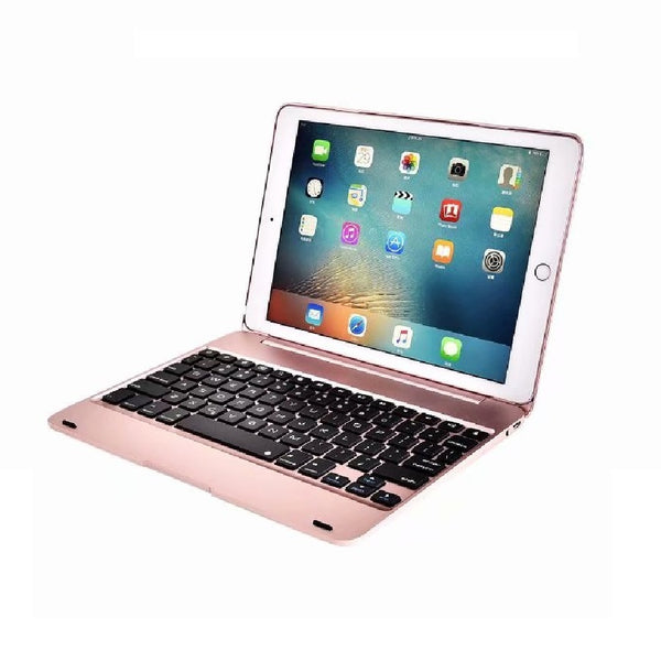 New Wireless iPad Air 2 Cover with Keyboard 9.7'' A1566 A1567 Bluetooth Aluminum Keyboard Case - Casebuddy