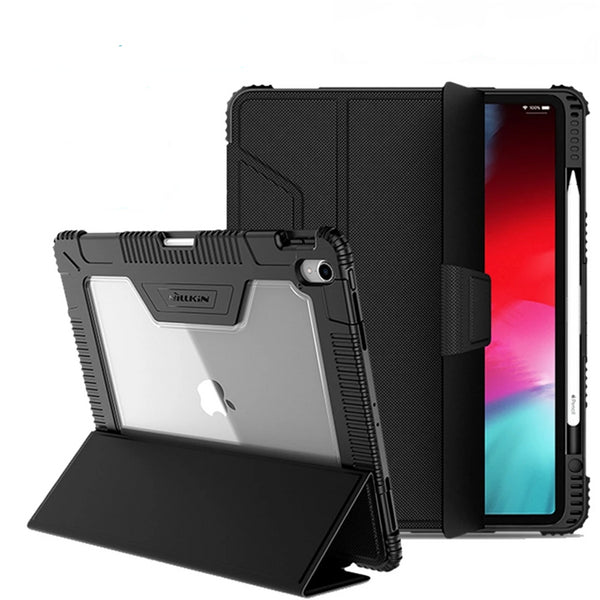 Nillkin Shockproof TPU Soft Slim PU Leather Smart Wake/Sleep Cover For iPad 9.7 2017 2018 - Casebuddy