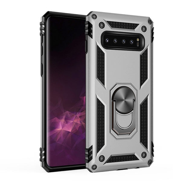 Shockproof Armor Kickstand Samsung Galaxy S10 S8 S9 S10E 5G Plus Note 8 9 10 Pro Finger Magnetic Ring Holder Cover Case - Casebuddy