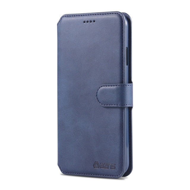 Magnetic Flip Wallet Case For iPhone X XR XS MAX 8 7 6s 6 Plus Luxury PU Leather Card Holder Slot Stand