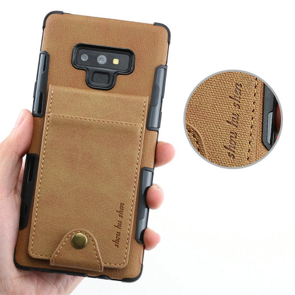 Card Slots Samsung Galaxy S10 S9 S8 Plus Note 9 8 S10 5G S10E A20 A30 A70 Flip Cover Cloth - Casebuddy