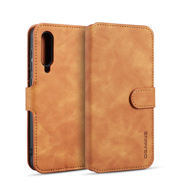 DGMING Magnetic Retro Oil Side Wallet Case For Samsung Galaxy A10 A20 A30 A6 A7 A8 A9 J4 J6 2018 A40 A50 A70 M20 M30 - Casebuddy