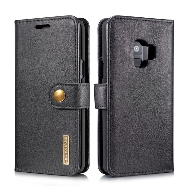 DGMING Removable 2 In 1 Wallet PU Leather 3 Card Slots Magnetic Case For Samsung Galaxy S7 Edge S8 S9 Plus - Casebuddy