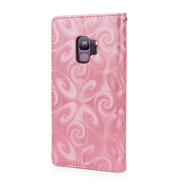 Bling Wallet Samsung Galaxy S8 S9 S10 Plus A50 A70 A40 J4 J6 2018 A7 A30 A10 Note 9 8 Leather Cover