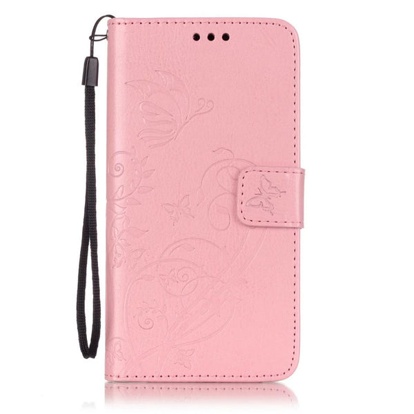 Samsung Galaxy J3 J5 J7 A3 A5 S10 S10E S9 S8 Plus S7 S6 Edge S5 Wallet Case Flower Cover Stand - Casebuddy