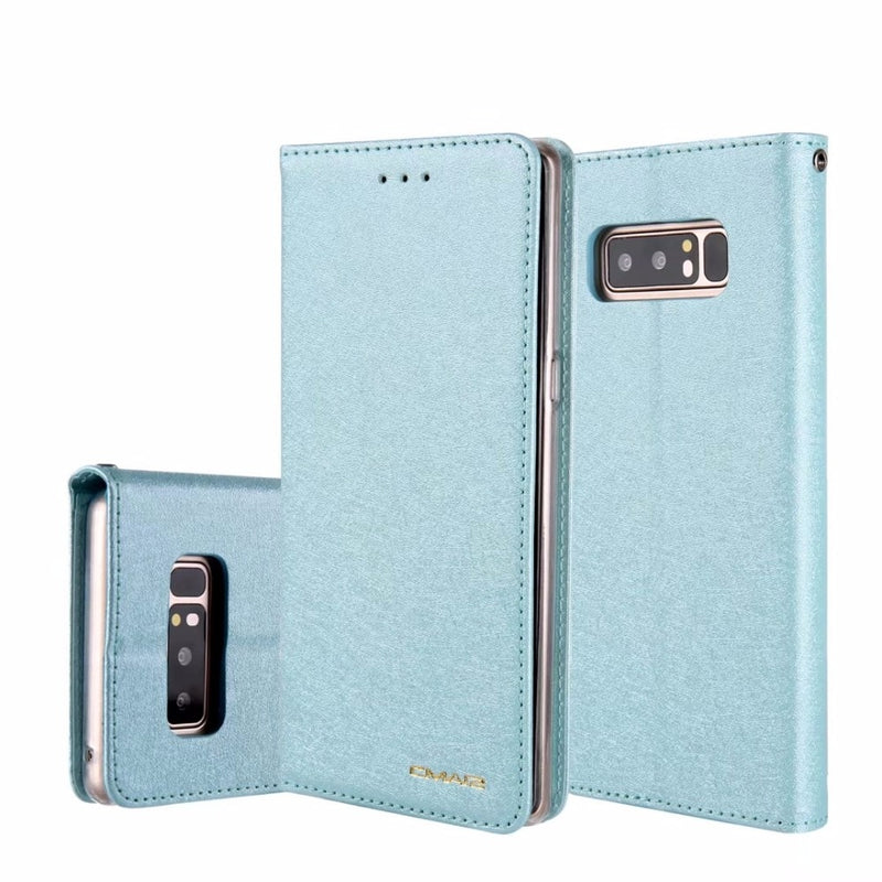 Leather Silk Magnetic Flip Wallet Cover Samsung Galaxy S9 S8 Plus S7 Edge S10 5G Note 10 Case Cards Slot