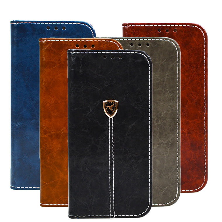 Vintage Style Wallet Cover Samsung Galaxy J3 J5 J7 J1 A3 A5 A7 S3 S4 S5 S6 S7 S8 S9 S10 Plus A9 S10e