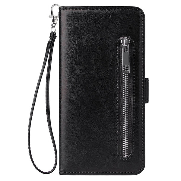Zipper Wallet Case Samsung S10 S10e S8 S9 Plus Note 8 9 A5 A6 A8 A10 A20 A50 A70 M10 Flip Leather Case Bag Pouch - Casebuddy