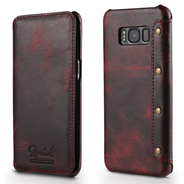 Real Leather amsung S10Plus Case Flip Cover for Samsung Galaxy S8 S9 S10e S10 Plus Note 9 Funda