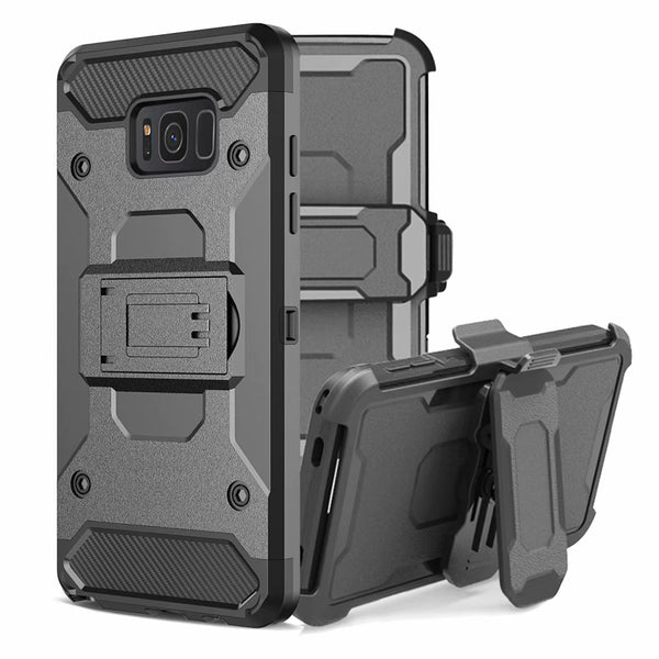 Armor Cover Samsung Galaxy S8 S9 S10 Plus S10E Note 8 9 S7 edge Shockproof Hard Stand Holder Full Body Belt Clip Case - Casebuddy