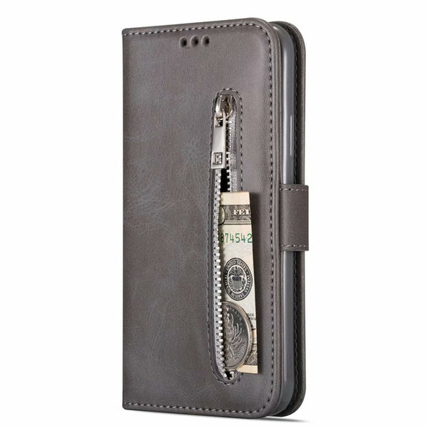 Zipper Wallet Leather Samsung Galaxy S7 S8 S9 S10 Plus J4 J6 J8 A10 A20 A50 A70 M10 M20 M30 Flip Case Cover - Casebuddy