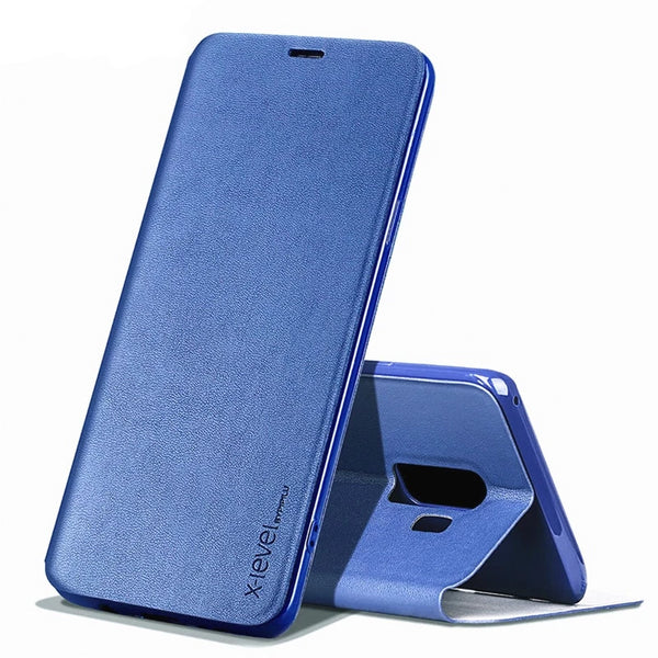 X-Level Ultra Thin Leather TPU Stand Case Samsung S10 S9 S8 Plus A10 A20 A50 Note 9 Protective Flip Holder Cover - Casebuddy
