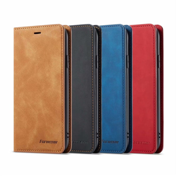 Leather Flip Case for Samsung Galaxy Note 9 S10 S9 S8 Plus A6 A7 A8 2018 Card Holder Magnetic Wallet Stand Book Cover - Casebuddy