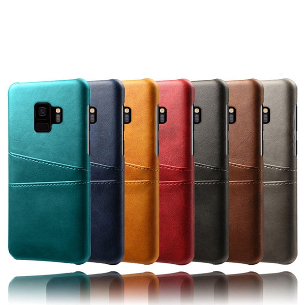 Samsung Galaxy S9 S8 Plus Note 9 S7 Edge A6 A8 Plus A7 A9 A9S Card Slots Cover PU Leather PC Case - Casebuddy