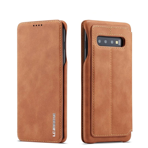 Leather Flip Card Holder Magnetic Case For Samsung Galaxy S10E S9 S8 Plus 5G S7 Edge Note 9 8  A70 A50 A40 A30 A20 Cover - Casebuddy
