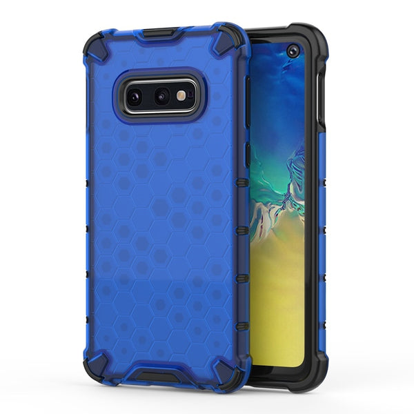 Hybrid PC + TPU Shockproof Case Samsung Galaxy S10 Plus Note 10 Plus 5G S10 S10e A7 A10 A20 A30 A40 A50 A70 M20 M30 - Casebuddy