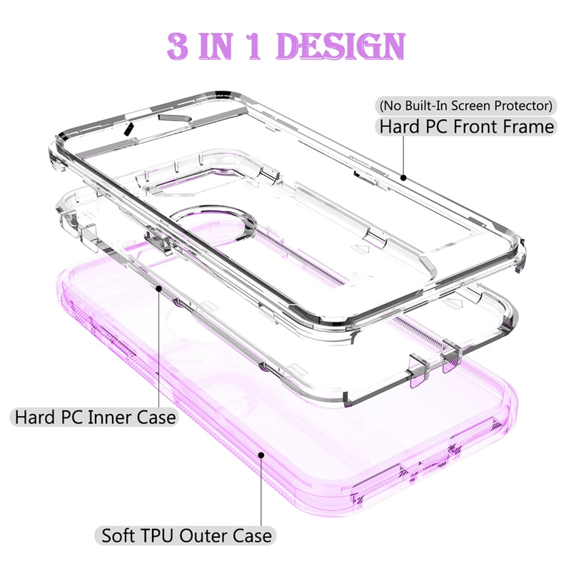 Hard Case iPhone 11 pro Max 7 8 6 6s Plus XR X Xs Max Case Clear PC Bumper Cute Bling Case - Casebuddy