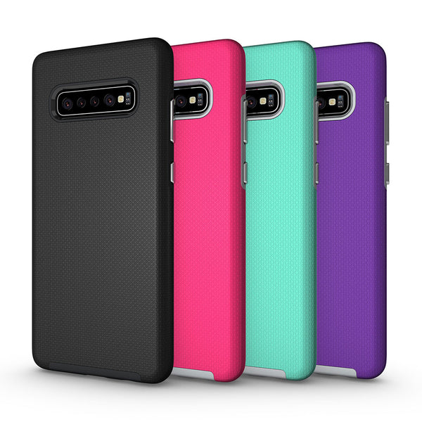 Samsung Galaxy S10 Plus 5G Note 9 8 10 Pro S9 S8 S10e Armor TPU PC Dual Layers ShockProof Rugged Non-Slip Cover - Casebuddy