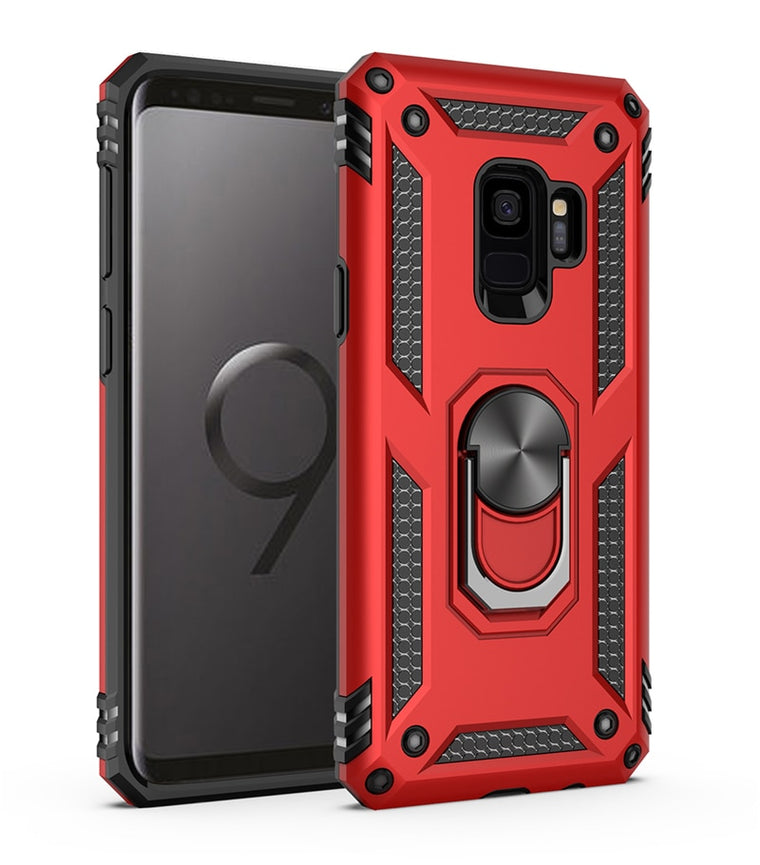 Shockproof Armor Case Samsung Galaxy S9 S8 S10 Plus S10e A20 A30 A50 A60 A70 Note 8 9 M10 M20 Car Ring Holder Stand