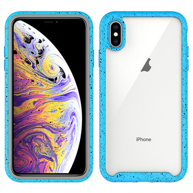 Shockproof hybrid armor TPU Bumper Clear Case for iPhone XS MAX XR X 7 8 6 Plus Anti Shock silicon case for 6s Luxury phone case - Casebuddy