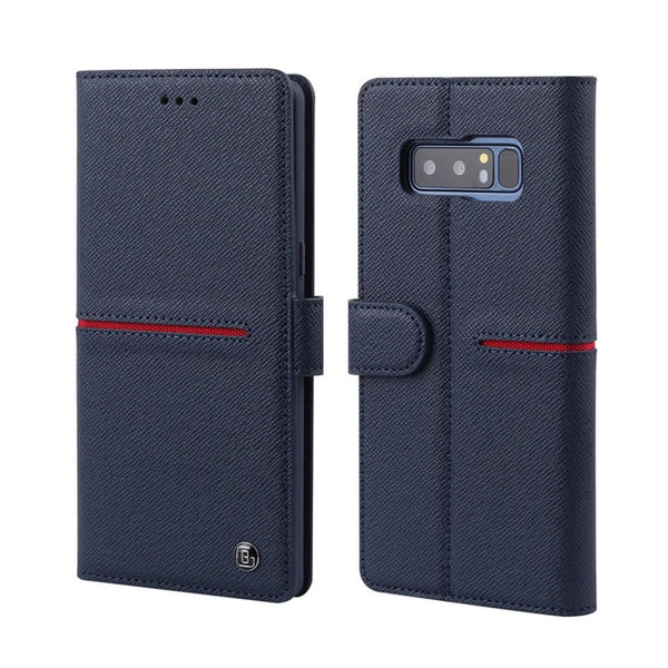 Luxury Original Genuine Leather Wallet Flip Case Cover Samsung Galaxy Note 8 9 10 S9 S10 Plus S10E Note 10+ 5G - Casebuddy