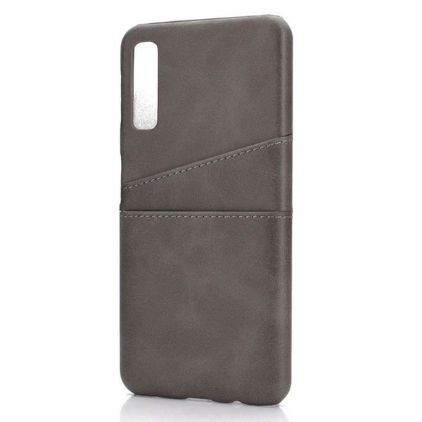 Credit Card Slot Holder Back Cover Samsung Galaxy A7 A9 A6 A8 Plus J4 J6 S9 Note 9 Leather+Plastic Phone Cover - Casebuddy
