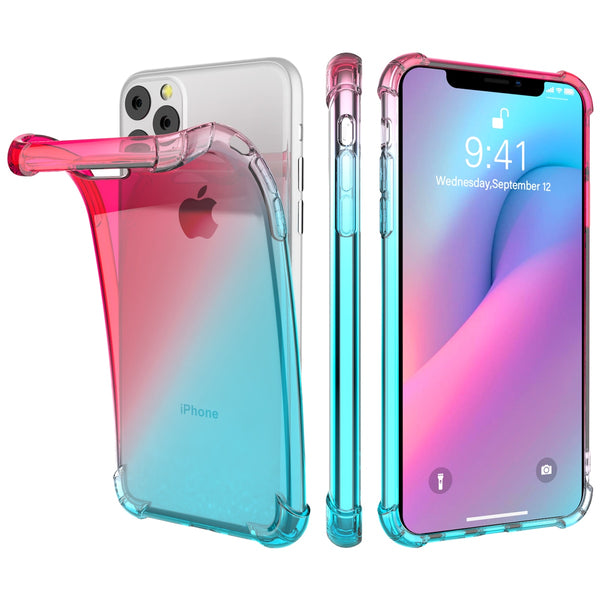 Soft TPU Bumper Gradient Color Shockproof Cover iPhone 11 Pro Max 6.5 Case Transparent - Casebuddy