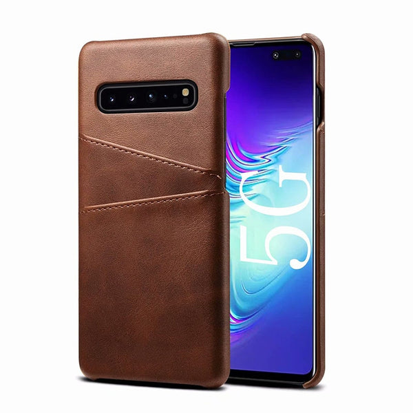 Leather Case Samsung Galaxy Note 10 Plus S10e S10 Plus M10 M20 M30 A10 A20 A30 A40 A50 A70 A80 A20E Wallet Cover - Casebuddy