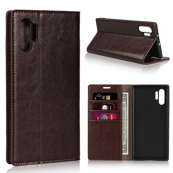Samsung Galaxy A80 A70 A50 A30 S10 Note 10 Plus 5G M20 Luxury Flip Card Wallet Real Genuine Leather Case - Casebuddy