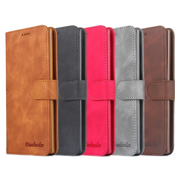 Cover Book Samsung Galaxy A50 A20 A10 A40 A30 A70 A80 S10 S10E S9 S8 Plus Stand Shell Leather Wallet Case - Casebuddy